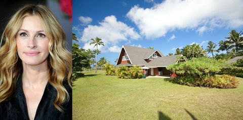 "<p><strong>Location: Hanalei, Hawaii</strong></p><p>Roberts' gorgeous oceanfront property is the ultimate Hawaiian getaway. The home, which she <a href=""http://www.zillow.com/blog/julia-roberts-selling-hawaii-estate-173249/"" target=""_blank"">listed for $30 million</a> last year, is located in star-studded Hanalei, where celebs like Mark Zuckerberg and Chuck Norris have also bought summer homes.</p>"