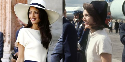 Amal Clooney and Jackie Kennedy