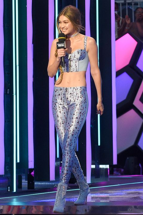 Gigi Hadid has six outfit changes for iheartradio awards