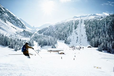 """<p><strong>Where</strong>: <a href=""""http://www.lapogeecourchevel.com/eng/home/"""" target=""""_blank"""">L'Apogee Courchevel</a>, Courchevel, France</p><p>Located in one of the world's top skiing destinations, it's only fitting that guests staying at L'Apogee Courchevel—in the celebrated Trois Vallées region—can train with the best. For $2,300 per day, including nightly accommodations, the five-star hotel offers private ski lessons with triple Olympic medalist (and 15-time French Champion) Florence Masnada in partnership with the exclusive Somewhere Club. Each day includes a morning workout, skiing in the Trois Vallées, recovery exercises and a post-ski pow-wow over drinks back at the chalet.</p>"""