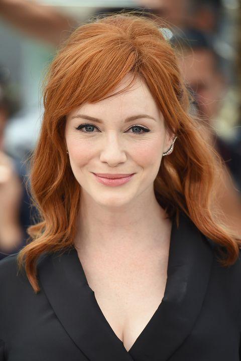 Christina Hendricks, red hair, celebrity redheads
