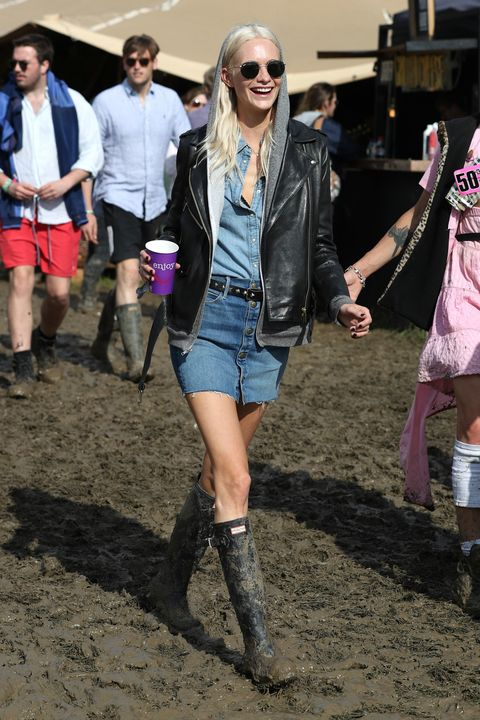 Glastonbury festival fashion and celebrities 2016