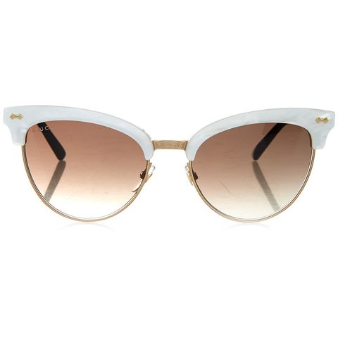"<p> <strong>Gucci</strong> glasses, $363, <a href=""http://www.matchesfashion.com/us/products/Gucci-Cat-eye-half-frame-sunglasses-1055483"" target=""_blank"">matchesfashion.com</a>.</p>"