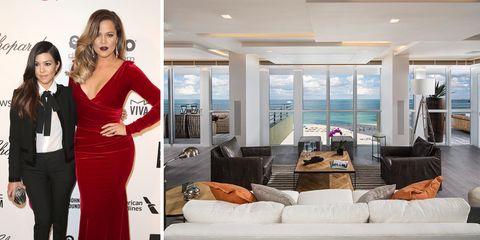 kourtney and khloe kardashian penthouse miami beach