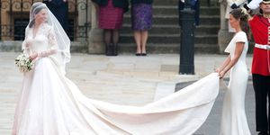 Duchess of Cambridge and Pippa Middleton at the royal wedding