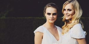 Cara Delevingne with Poppy Delevingne