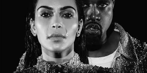 Kim Kardashian and Kanye West in the Wolves video