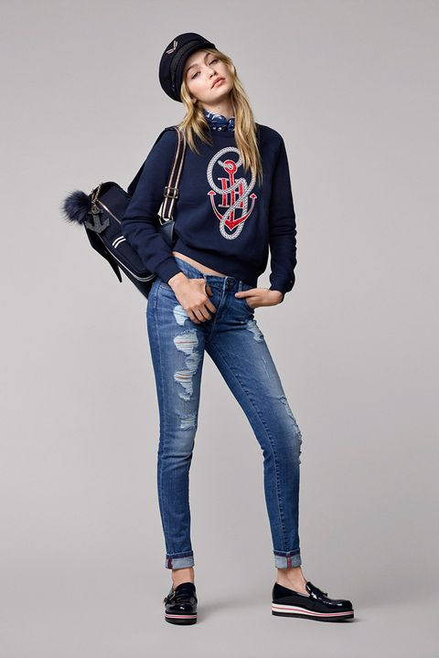 29ea02f7e42cae Gigi Hadid for Tommy Hilfiger clothing collection look book