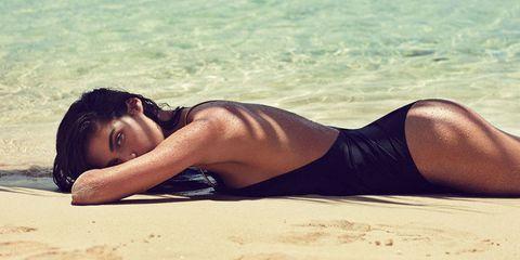 Model on Beach Emma Tempest