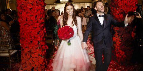 Lydia Hearst and Chris Hardwick wedding photos