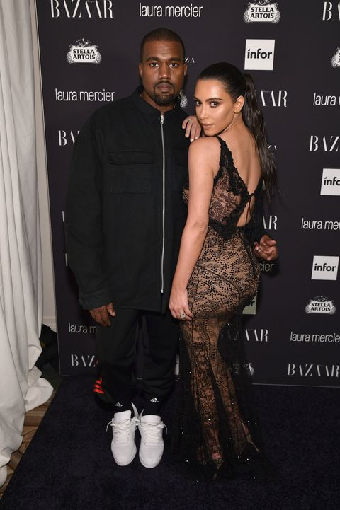 Kanye West and Kim Kardashian at Bazaar Icons party