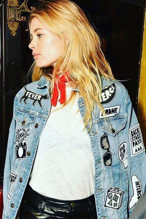 Frame Denim Fashion Tour jacket, denim jackets, Gigi Hadid, Karlie Kloss