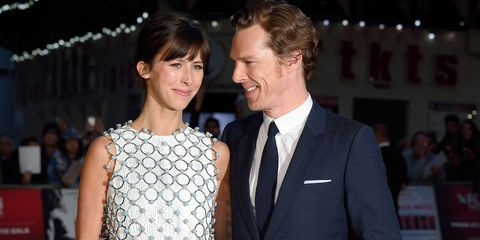 Benedict Cumberbatch with his wife Sophie Hunter