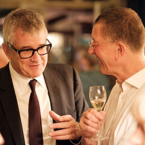 Jay Jopling and Anthony Gormley at the Bazaar Art party, Mark's Club