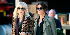 Cate Blachett and Sandra Bullock filming Ocean's Eight