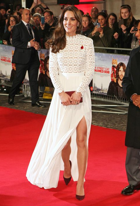 Duchess of Cambridge wearing white Self-Portrait dress