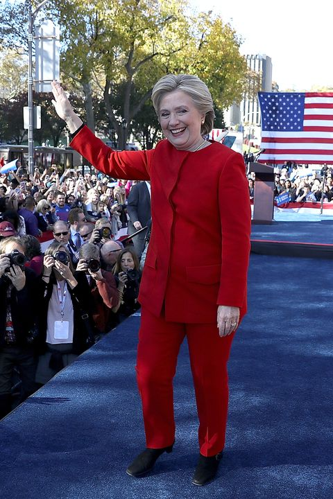 PITTSBURGH, PA - NOVEMBER 07:  Democratic presidential nominee former Secretary of State Hillary Clinton greets supporters during a campaign rally on November 7, 2016 in Pittsburgh, Pennsylvania. With one day to go until election day, Hillary Clinton is campaigning in Pennsylvania, Michigan and North Carolina.  (Photo by Justin Sullivan/Getty Images)
