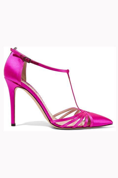 Footwear, Purple, Pink, Magenta, Fashion, High heels, Beige, Basic pump, Fashion design, Leather,