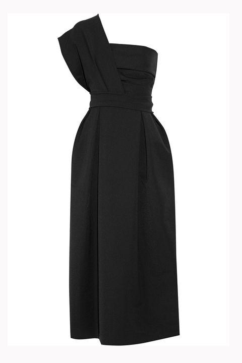 Sleeve, Textile, Dress, One-piece garment, Formal wear, Collar, Pattern, Black, Day dress, Fashion design,