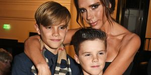 Victoria Beckham with Romeo and Cruz