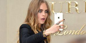 Cara Delevingne phone selfie