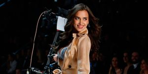 Irina Shayk pregnant on the Victoria's Secret catwalk
