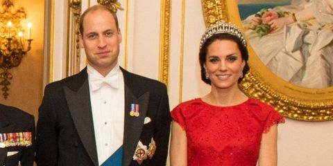 Duke and Duchess of Cambridge diplomatic reception Buckingham Palace