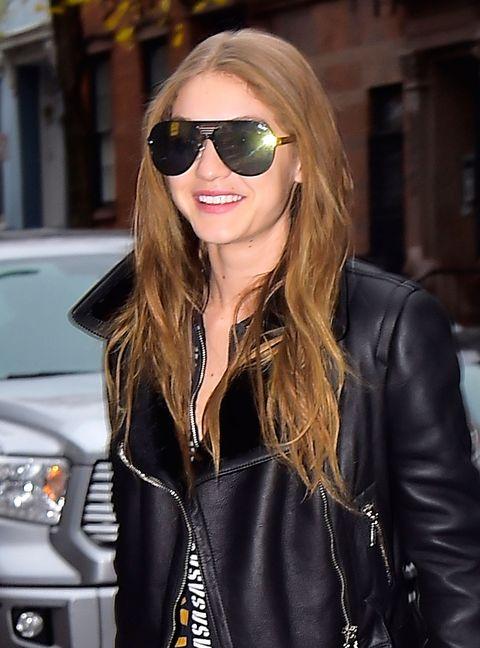Gigi Hadid brunette hair