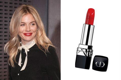 Sienna Miller Bright Red Lipstick
