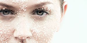 woman Salt scrub