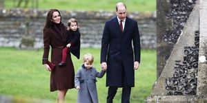 Duke and Duchess of Cambridge, Prince George and Princess Charlotte on Christmas Day