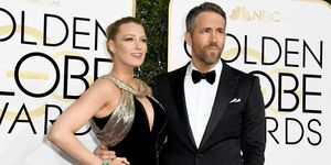 Blake Lively and Ryan Reynolds at the Golden Globes 2017