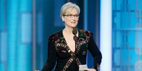 Meryl Streep at the Golden Globes 2017