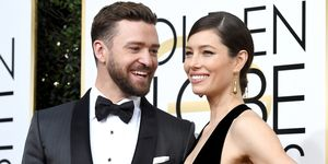 Justin Timberlake and Jessica Biel at the Golden Globes 2017