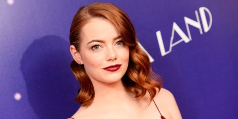 Emma Stone at the La La Land premiere in London