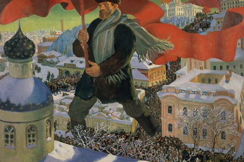 Boris Mikailovich Kustodiev, 'Bolshevik', 1920. State Tretyakov Gallery Photo © State Tretyakov Gallery