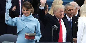 Melania and Donald Trump at the inauguration