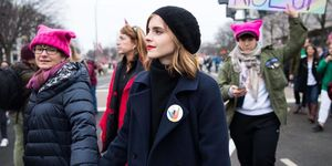 Emma Watson at the women's march