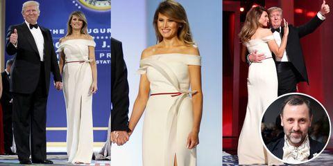 Clothing, Hair, Human, Dress, Shoulder, Red, Formal wear, Style, Waist, Fashion model,