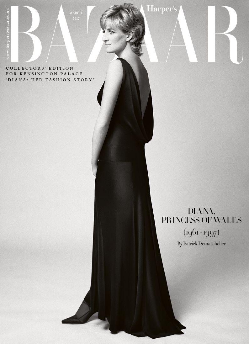 edce6129354e Princess Diana Harper s Bazaar March 2017 issue limited-edition cover