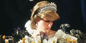 Diana, Princess of Wales at a dinner in Canada in 1983