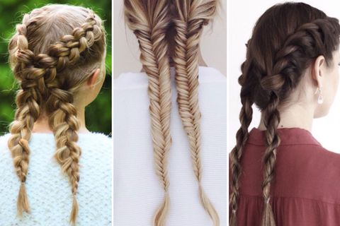 Brown, Hairstyle, Textile, Style, Braid, Beauty, Long hair, Hair accessory, Neck, Blond,