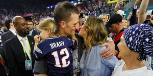 Tom Brady and Gisele after the 2017 Super Bowl