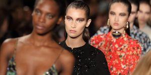 Bella Hadid on the Dior catwalk