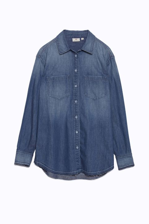 Blue, Sleeve, Collar, Textile, White, Electric blue, Fashion, Grey, Cobalt blue, Clothes hanger,
