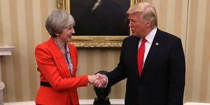 Theresa May, Donald Trump