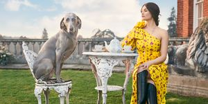 Gemma Arterton with dog