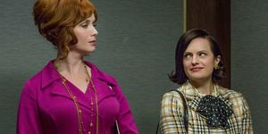 Peggy and Joan in Mad Men