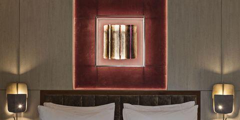 Lighting, Room, Interior design, Wall, Textile, Lampshade, Lamp, Lighting accessory, Interior design, Lantern,