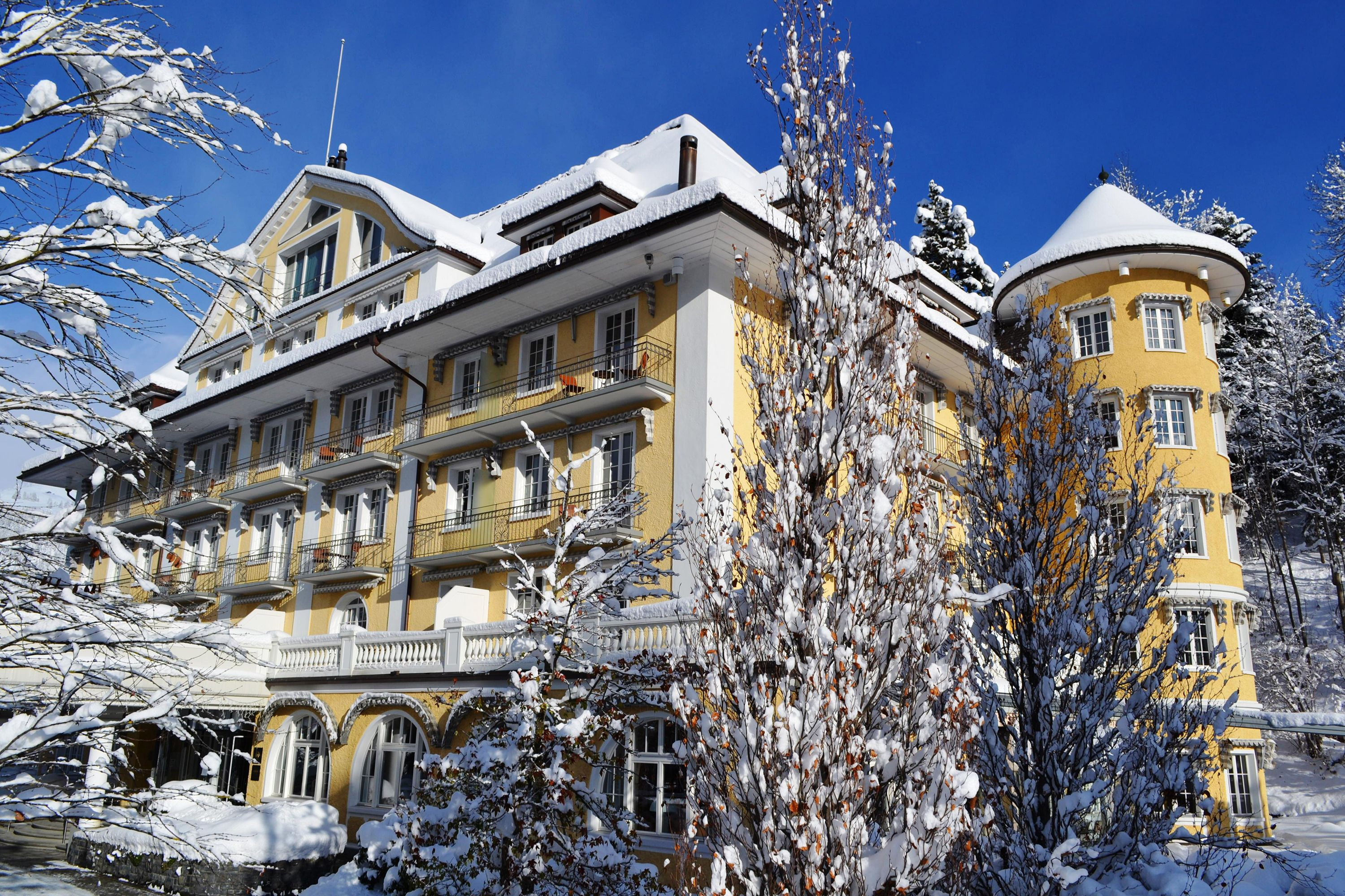 The Swiss ski resort of Gstaad has had its fair share of starry guests, having been the retreat of choice for Grace Kelly, Elizabeth Taylor and Richard Burton over the years – partly thanks to the town's excellent restaurants and hotels. One such gem is Le Grand Bellevue, which was extensively revamped following its centenary a few years ago. The grandeur remains, but it is joined by colourful, Scandinavia-inspired design and a superb spa, featuring 11 treatment-rooms, an ice grotto, a hair salon and Bamford products. Guests can also indulge in a Swiss-style afternoon tea. 